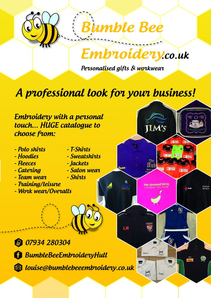 Bumble Bee Embroidery leaflet V3-02